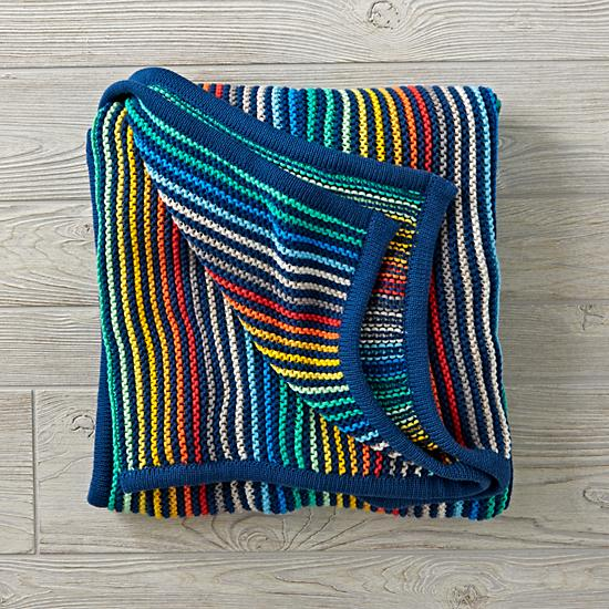 Rainbow Blend Knit Blanket by Land Of Nod